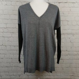 French Connection Women Oversized Gray Sweater S